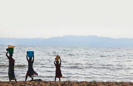 People collecting water from Lake Tanganyika