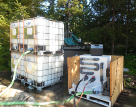 Organic polymer with pump apparatus.